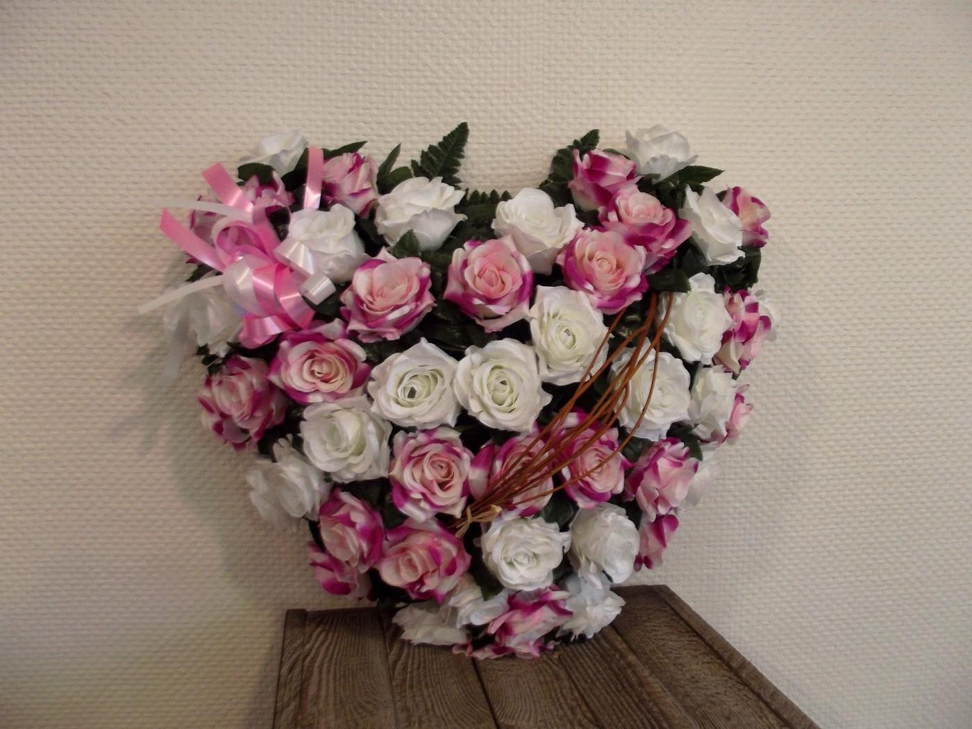 Articles fun raires pompes fun bres marbrerie authier - Coeur fleurs artificielles ...