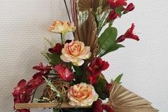 Composition florale rouge