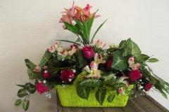 Grande coupe de fleurs allongées