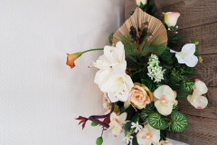 Gerbe lys roses et aromes