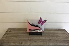 Petite plaque altu souvenir papillon rose