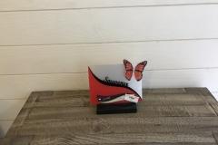 Petite plaque altu souvenir papillon rouge