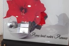 """Plaque altu """"avec tout notre amour"""""""