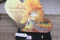 Plaque altu coeur d'automne
