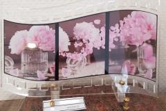 Plaque altu fleurs sur pellicule photo