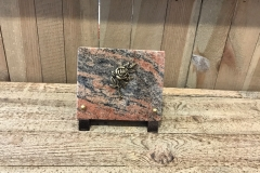 Petite plaque granit, bronze rose