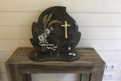 Plaque granit épis et croix