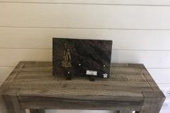 Plaque granit pêcheur