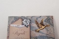 Plaque granit carte postale