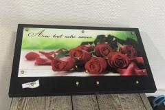 Plaque granit et altu roses rouges